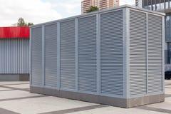 Βιομηχανικά συστήματα κλιματισμού και εξαερισμού Σύστημα εξαερισμού του εργοστασίου HVAC ως θέρμανση του κλιματισμού εξαερισμού στοκ εικόνες