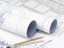Βιομηχανικά σχέδια των μηχανισμών και των εργαλείων Στοκ Εικόνες