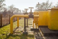 Βιομηχανικές βαλβίδες αερίου στοκ εικόνα με δικαίωμα ελεύθερης χρήσης