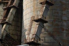 βιομηχανικές δεξαμενές στοκ εικόνα