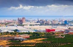 Βιομηχανικές εγκαταστάσεις στην Ισπανία Στοκ φωτογραφία με δικαίωμα ελεύθερης χρήσης