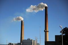 βιομηχανικές καπνοδόχοι Στοκ Φωτογραφία