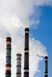 βιομηχανικές στοίβες καπνού Στοκ εικόνα με δικαίωμα ελεύθερης χρήσης