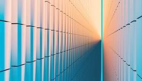 Βιομηχανική άσπρη τρισδιάστατη απεικόνιση σύστασης υποβάθρου τοίχων Στοκ εικόνα με δικαίωμα ελεύθερης χρήσης