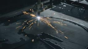 Βιομηχανική λέιζερ κατασκευή μετάλλων πλάσματος τέμνουσα απόθεμα βίντεο