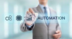 Βιομηχανική έννοια βελτιστοποίησης καινοτομίας τεχνολογίας αυτοματοποίησης επιχειρησιακής διαδικασίας ελεύθερη απεικόνιση δικαιώματος