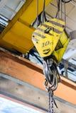Βιομηχανική αναστολή γερανών γάντζων Στοκ φωτογραφίες με δικαίωμα ελεύθερης χρήσης