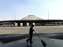 Βιομηχανική αρχιτεκτονική μεταφορών προαστίων εργοστασίων στο de Μεξικό Πόλη του Μεξικού Ecatepec Στοκ φωτογραφία με δικαίωμα ελεύθερης χρήσης
