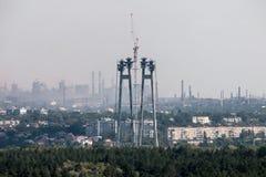 Βιομηχανική αστική περιοχή Στοκ φωτογραφία με δικαίωμα ελεύθερης χρήσης