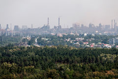 Βιομηχανική αστική περιοχή Στοκ Εικόνα