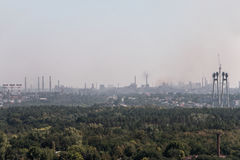 Βιομηχανική αστική περιοχή Στοκ εικόνα με δικαίωμα ελεύθερης χρήσης