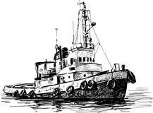 Βιομηχανική βάρκα Στοκ φωτογραφία με δικαίωμα ελεύθερης χρήσης