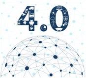 Βιομηχανική Διαδίκτυο ή βιομηχανία 4 0 έννοια Στοκ φωτογραφία με δικαίωμα ελεύθερης χρήσης