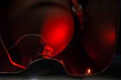 Βιομηχανική δεξαμενή πίεσης κόκκινου φωτός - DSC03799 Στοκ Φωτογραφία