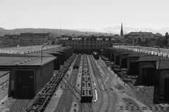 βιομηχανική Ζυρίχη Στοκ Εικόνες