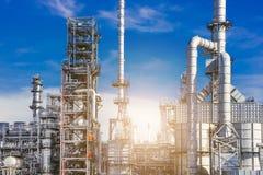Βιομηχανική ζώνη, διυλιστήριο πετρελαίου, πετρελαιαγωγός Στοκ Φωτογραφίες