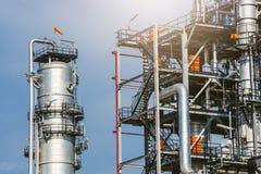 Βιομηχανική ζώνη, διυλιστήριο πετρελαίου, πετρελαιαγωγός Στοκ φωτογραφίες με δικαίωμα ελεύθερης χρήσης