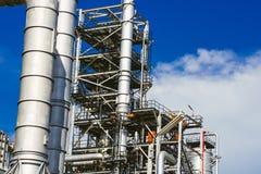 Βιομηχανική ζώνη, διυλιστήριο πετρελαίου, πετρελαιαγωγός Στοκ Εικόνες