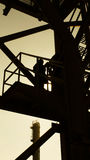 Βιομηχανική ζώνη, σκιαγραφία Στοκ εικόνα με δικαίωμα ελεύθερης χρήσης