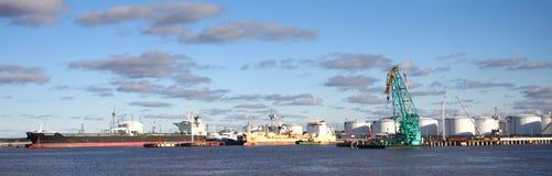 βιομηχανική ζώνη όψης Στοκ φωτογραφίες με δικαίωμα ελεύθερης χρήσης