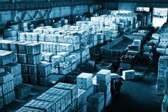 βιομηχανική μεγάλη αποθήκη εμπορευμάτων Στοκ φωτογραφία με δικαίωμα ελεύθερης χρήσης