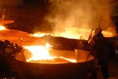 βιομηχανική μεταλλουρ&gamm Στοκ εικόνες με δικαίωμα ελεύθερης χρήσης
