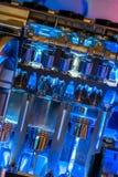 Βιομηχανική μηχανή εμβόλων συνδέοντας ράβδων στοκ εικόνα με δικαίωμα ελεύθερης χρήσης