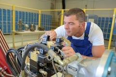 Βιομηχανική μηχανική μηχανή καθορισμού στοκ εικόνες με δικαίωμα ελεύθερης χρήσης