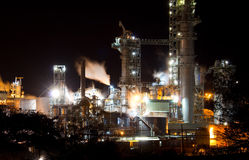 βιομηχανική νύχτα Στοκ Εικόνες