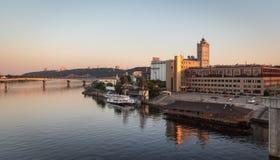 Βιομηχανική περιοχή της άποψης του Κίεβου από τη γέφυρα Rybalskii Στοκ φωτογραφία με δικαίωμα ελεύθερης χρήσης