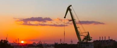 Βιομηχανική περιοχή της άποψης του Κίεβου από τη γέφυρα Rybalskii Στοκ εικόνες με δικαίωμα ελεύθερης χρήσης