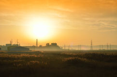 Βιομηχανική περιοχή τοπίων Στοκ φωτογραφία με δικαίωμα ελεύθερης χρήσης