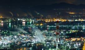 Βιομηχανική περιοχή Mizushima στην Ιαπωνία τη νύχτα Στοκ Εικόνες
