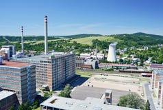 Βιομηχανική περιοχή Zlin Στοκ φωτογραφία με δικαίωμα ελεύθερης χρήσης