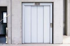Βιομηχανική πόρτα ανελκυστήρων Στοκ Εικόνα