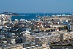 Βιομηχανική πόλη στην Ιαπωνία Στοκ Εικόνες