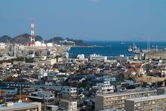 Βιομηχανική πόλη στην Ιαπωνία Στοκ Φωτογραφία