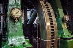 Βιομηχανική ρόδα μυγών μηχανών ατμού Στοκ εικόνα με δικαίωμα ελεύθερης χρήσης