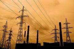 βιομηχανική ρύπανση αέρα Στοκ εικόνα με δικαίωμα ελεύθερης χρήσης