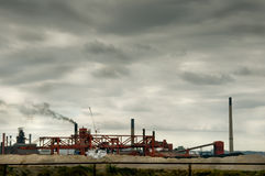 βιομηχανική ρύπανση Στοκ Εικόνες