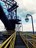 Βιομηχανική σκηνή με το λαμπτήρα Στοκ φωτογραφία με δικαίωμα ελεύθερης χρήσης