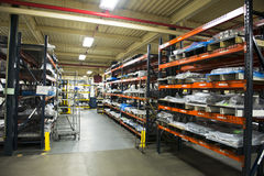 Βιομηχανική δυνατότητα αποθηκών εμπορευμάτων εργοστασίων κατασκευής Στοκ Εικόνα