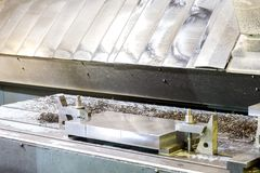 Βιομηχανική φόρμα μετάλλων/κενή προετοιμασία για τη διαδικασία άλεσης Στοκ εικόνα με δικαίωμα ελεύθερης χρήσης