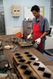 Βιομηχανικοί εργάτες τσιμέντου στοκ εικόνα