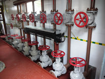 Βιομηχανικοί εσωτερικοί στο εσωτερικό σταθμοί για το αέριο distr Στοκ Φωτογραφίες