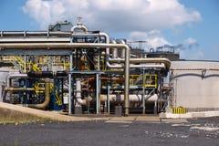 βιομηχανικοί σωλήνες λ&epsilo Στοκ φωτογραφία με δικαίωμα ελεύθερης χρήσης