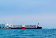 Βιομηχανικός γερανός θαλάσσιων λιμένων Στοκ Εικόνες
