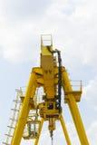 Βιομηχανικός γερανός, πλάγια όψη Στοκ Φωτογραφία