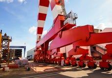 Βιομηχανικός γερανός στο ναυπηγείο Στοκ Εικόνες