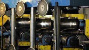 Βιομηχανικός εξοπλισμός Διαδικασία παραγωγής στη βαριά βιομηχανία απόθεμα βίντεο